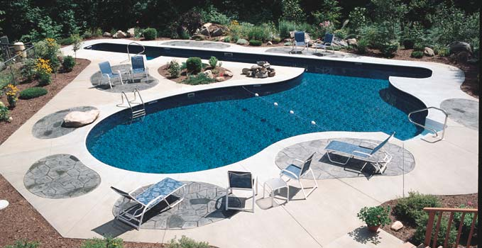 Inground swimming pools in glens falls queensbury lake for Custom inground swimming pools